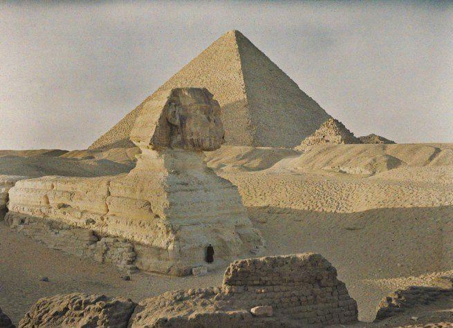 Auguste Leon, Egypt, Giza, 6 January 1914