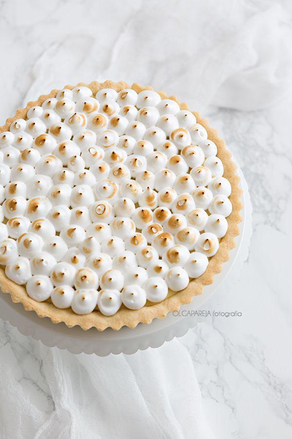Lemon Curd Pie with Italian Meringue #recipe