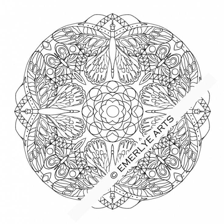 Dragonfly Mandala Coloring Pages