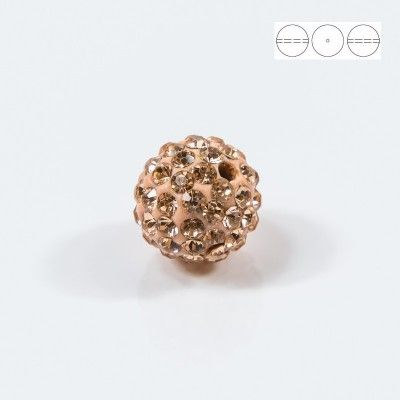 Discoball Bead 10mm Peach  Dimensions: 10mm Stones which were used in a ball are from Preciosa Company  1 package = 1 piece
