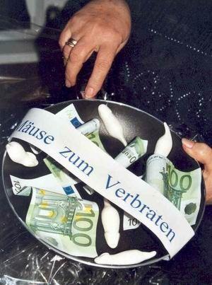 Geldgeschenk: Mäuse zum Verbraten
