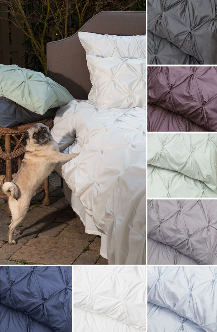 Sleep on a cloud: Silky soft 400 thread count pintuck bedding for your modern home.