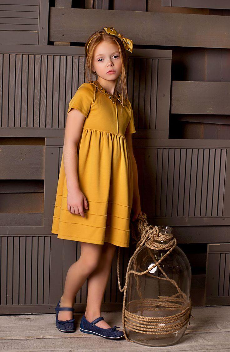 "Dress and Headband for Girls | Платье трикотажное + ободок ""Mimoza"""
