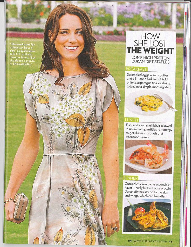 It was reported that Kate Middleton used The Dukan Diet to slim down for her wedding day.