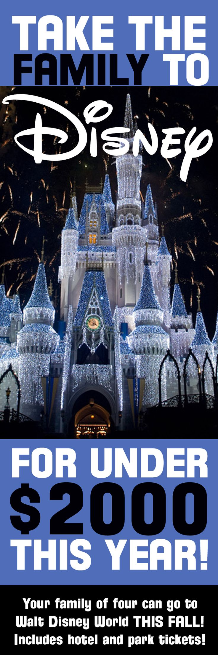 DISNEY DEAL – Take Your Family to Walt Disney World for Under $2000! #WDW #Disney #Deals #Bargains