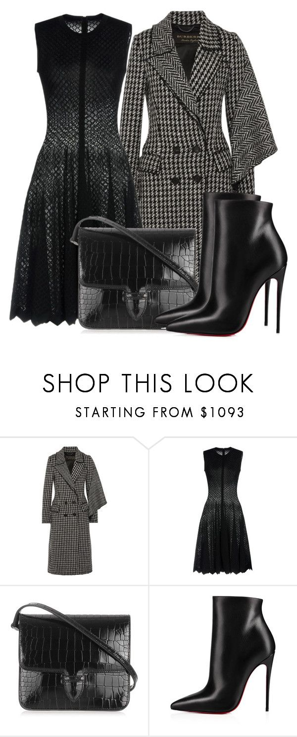 """""""Untitled #5154"""" by beatrizvilar on Polyvore featuring Burberry, Alaïa and Christian Louboutin"""
