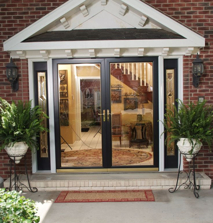 Top 25 best double storm doors ideas on pinterest for Front entry doors with storm door