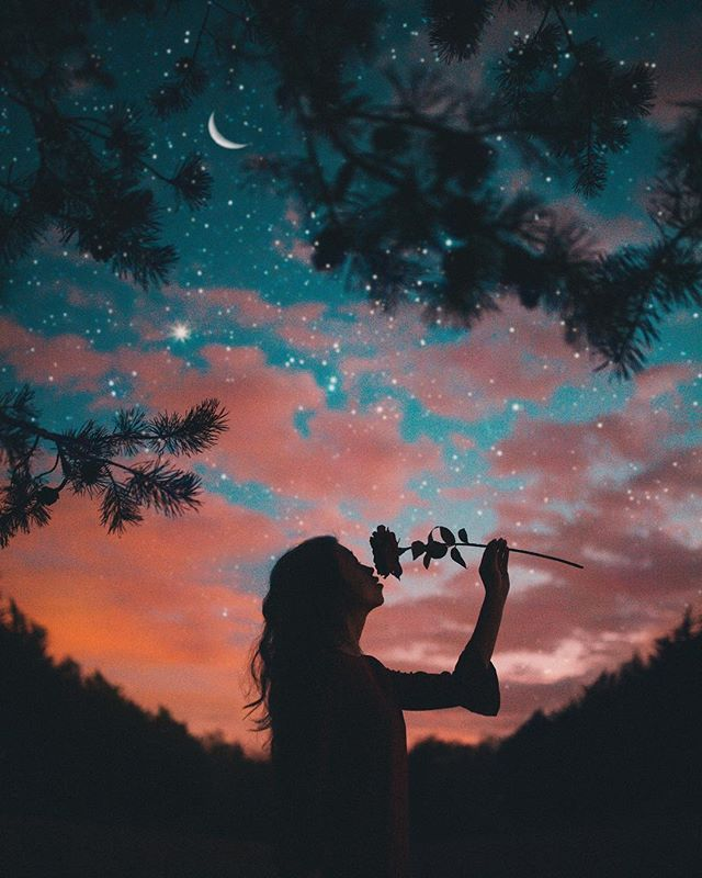 Under Starry Skies Silhouette Photography Profile Pictures Instagram Silhouette Photos