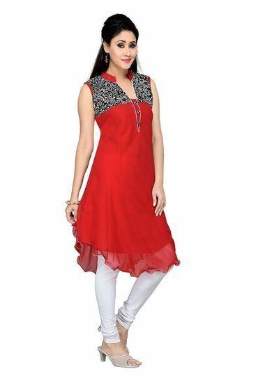LadyIndia.com # Kurtas, Designer Elegant Red Kurti For Women, Kurtis, Kurtas, Cotton Kurti, https://ladyindia.com/collections/ethnic-wear/products/designer-elegant-red-kurti-for-women