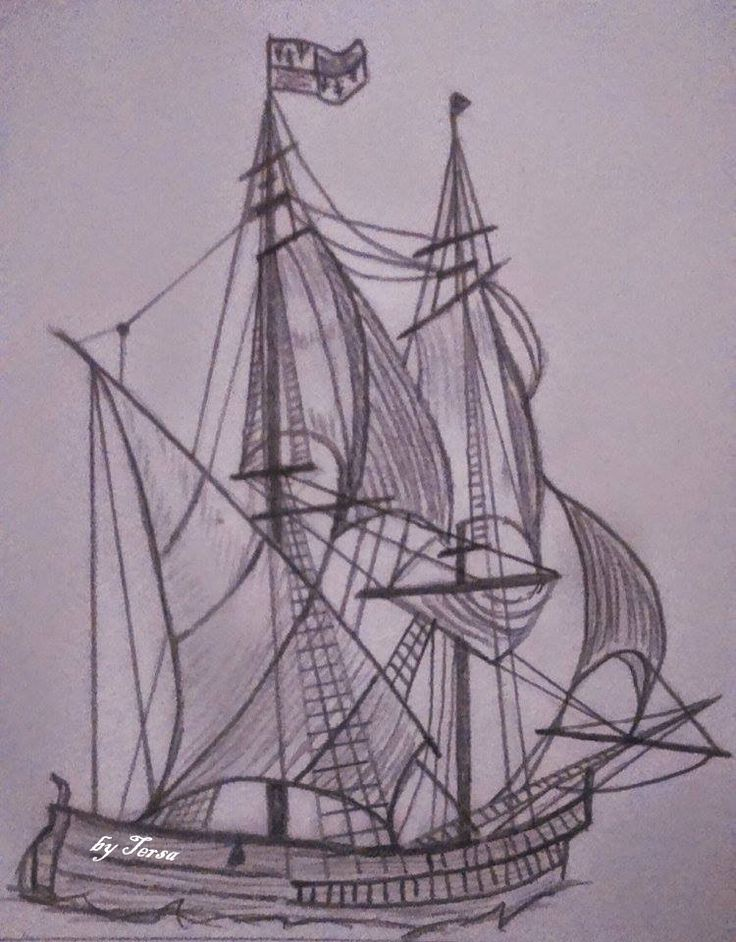 ship, sketch