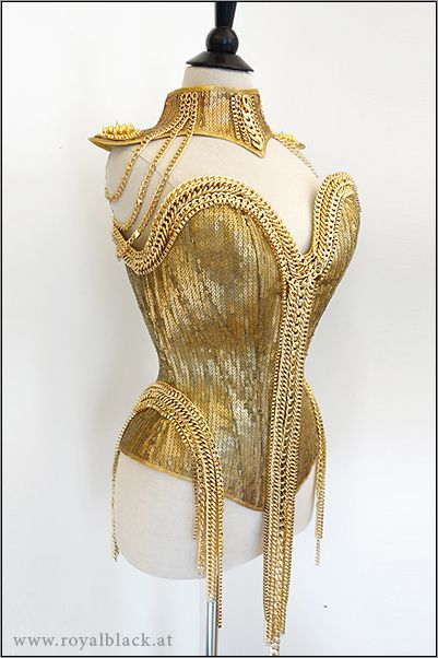 "Royal Black's Couture Corset ""Pure Gold"" 