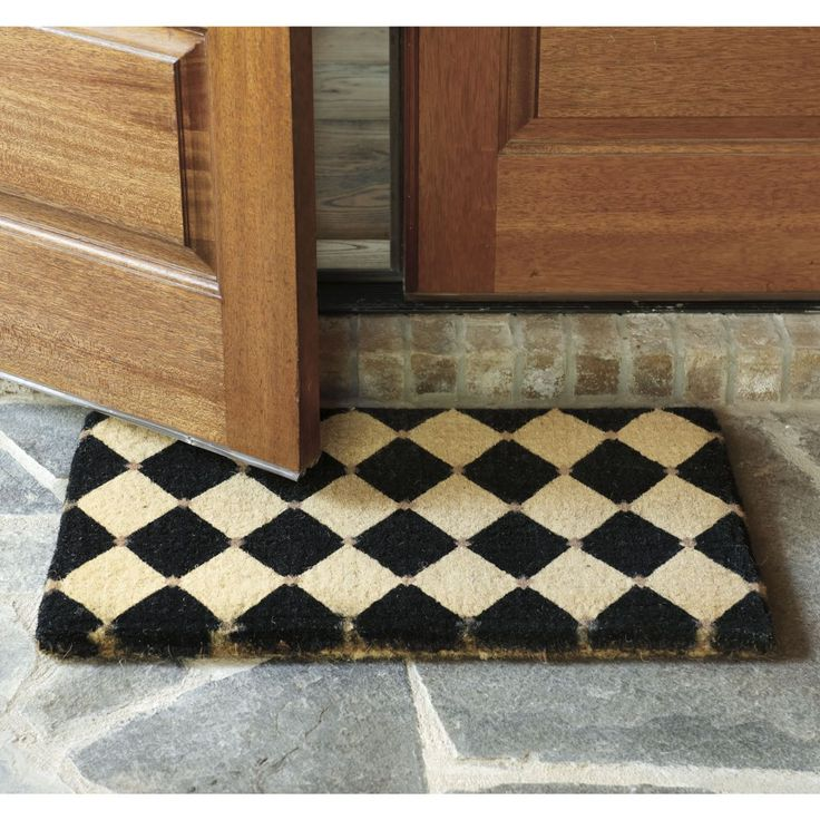 Lovely French Court Coir Mat  Ballard Designs Love These, Also Available In Apple  Green Or Red. These Have Been My Go To Door Mats For Years
