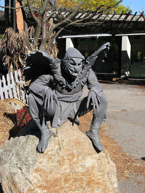 Gargoyle costume on rock by FranMoff, via Flickr