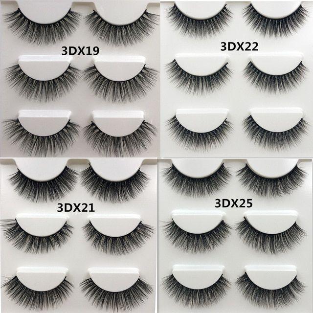 74e2e56ce17 SHIDISHANGPIN 3 pairs 3d mink lashes natural long mink eyelashes handmade 1  box false eyelashes lashes cilios for makeup beauty Review