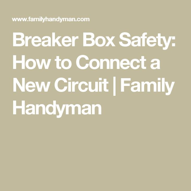 how to hook up circuit breaker box Take care that both circuits attached to a tandem have their own neutral (white wire) while you might be able to install a tandem breaker.