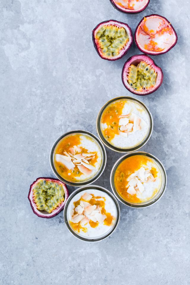 Coconut Chia Pudding with Passion Fruit & Maple Coulis | Christelle is Flabbergasting