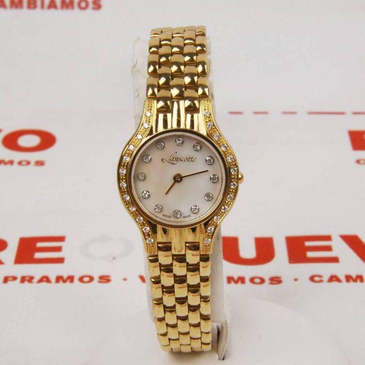 #Reloj para dama #lanscotte, de oro con brillantes E258562A de segunda mano | Tienda de Segunda Mano en Barcelona Re-Nuevo #segundamano