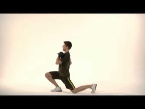 Kettlebell Split Squat oefening  http://www.oefeningen-buik.nl/buikspieren-trainen-vrouwen-8kg