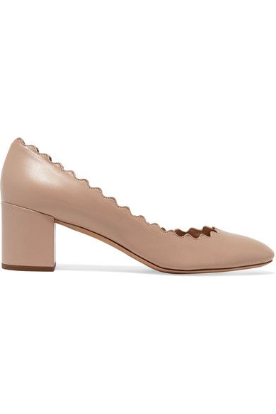 Heel measures approximately 50mm/ 2 inches Taupe leather Slip on Designer color: Water Fall Made in ItalySmall to size. See Size & Fit notes.