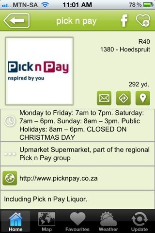 """Pick n Pay Hoedspruit is a hAPPy business - a """"where to shop"""" listing on the Hoedspruit Info App"""