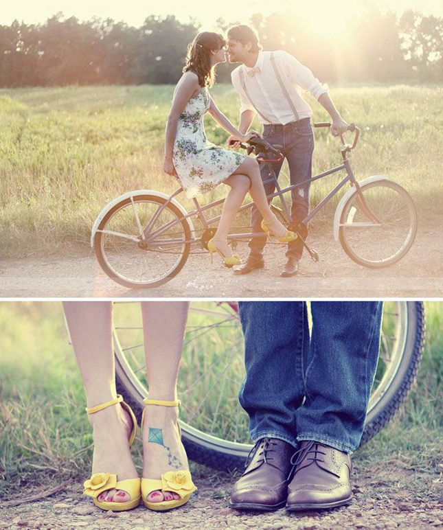 {Engagement Inspiration} : Vintage Bikes - Part 1 - Belle the Magazine . The Wedding Blog For The Sophisticated Bride. Save the date?