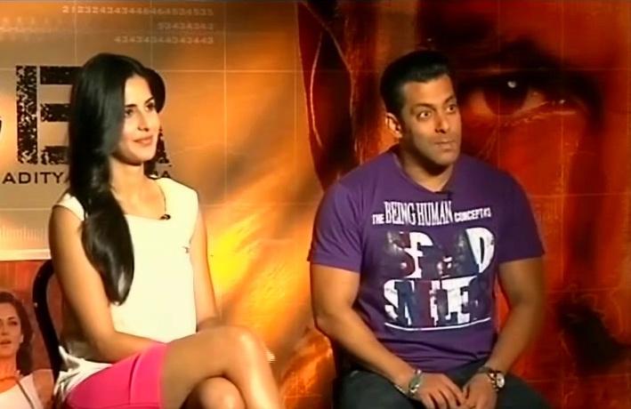 Salman, Katrina talk about Ek Tha Tiger http://ndtv.in/Niyff8