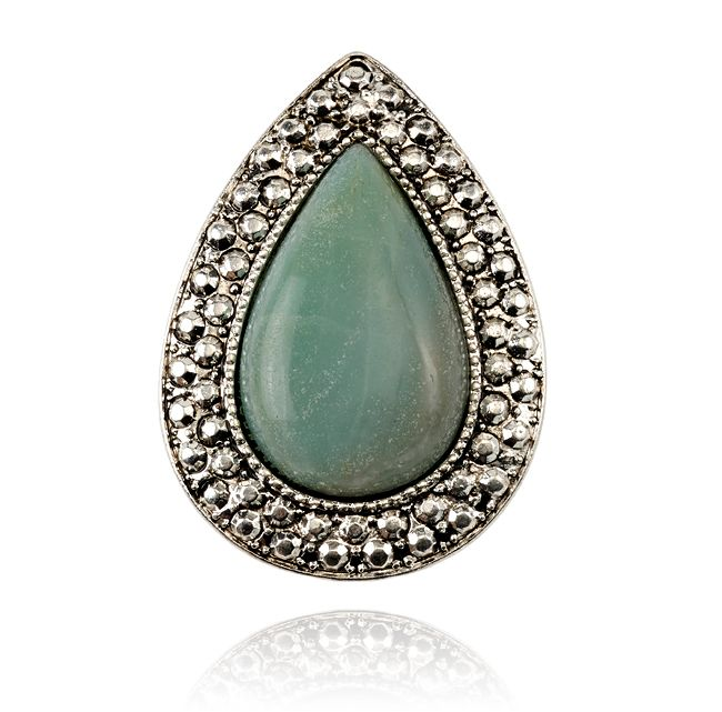 SAMANTHA WILLS - BOHEMIAN BARDOT RING - AMAZONITE
