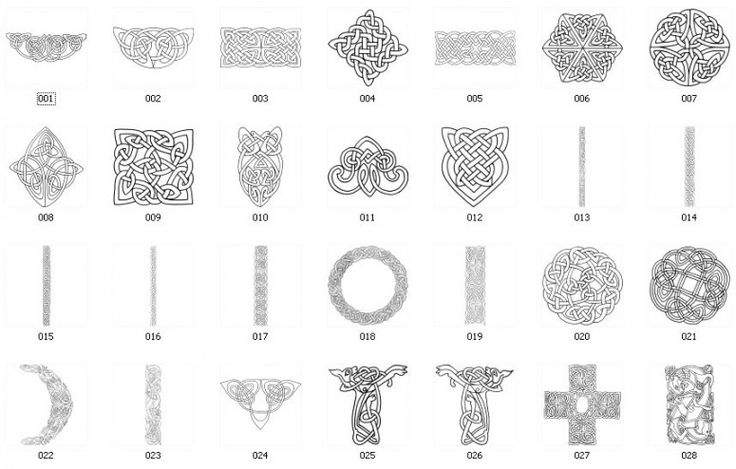 Celtic Symbols And Meanings Chart : Celtic Symbols And ...