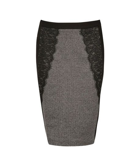 Lace Detail Pencil Skirt #rickis #fall2014