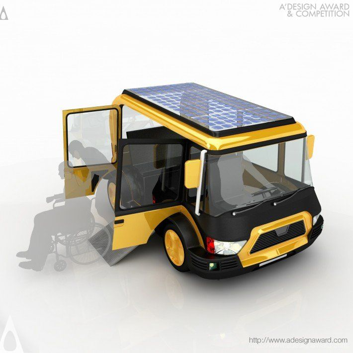 Solar Taxi Vehicle by Hakan Gürsu is Silver A' Design Award Winner in Vehicle, Mobility and Transportation Design Category, 2013 - 2014. #solar