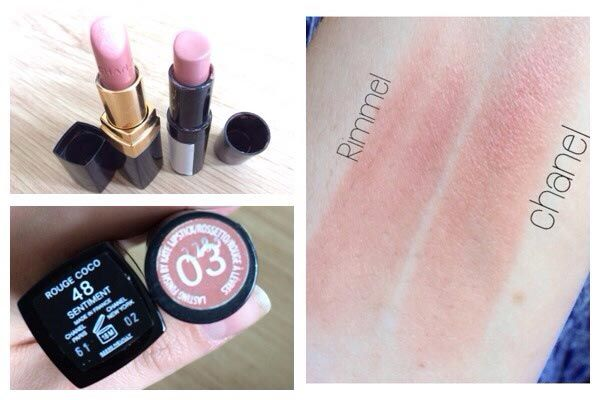 Chanel Rouge Coco Sentiment Dupe | Rimmel Kate Moss 03