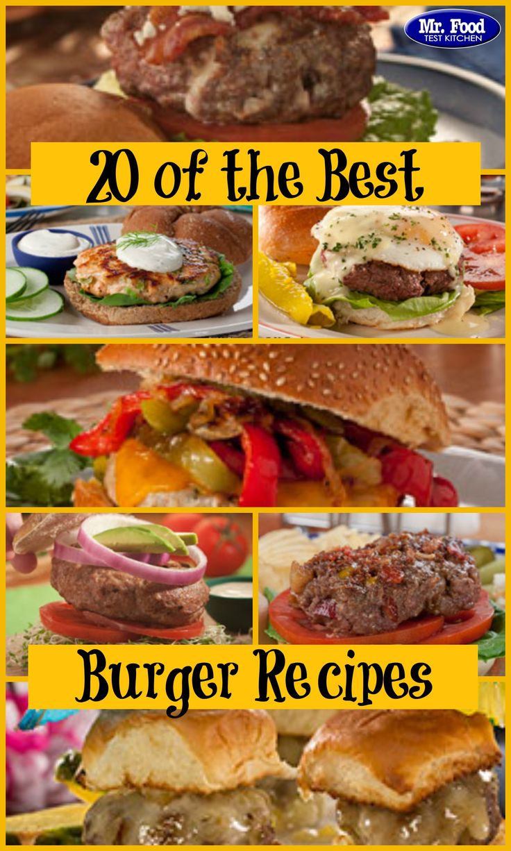 20 of the Best Burger Recipes - Perfect for your summer BBQs, this collection of burger recipes is unlike any you've seen before. From turkey burgers to BLTs to stuffed burgers to sliders and more, you'll want to have this collection handy for Memorial Day and the 4th of July.