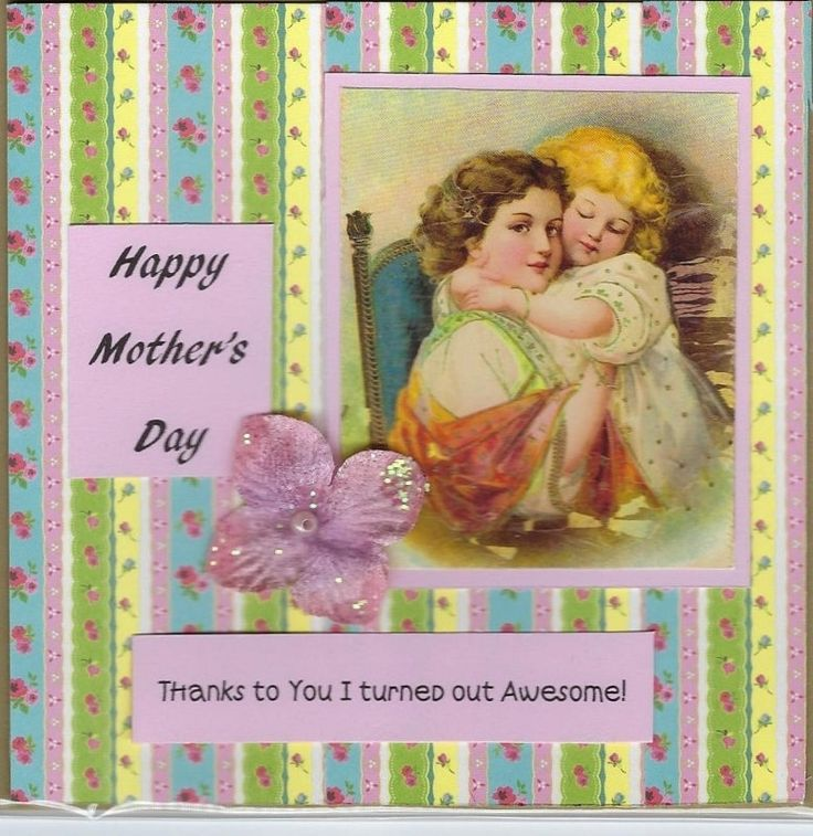 Mother's Day Card - Thanks to you I turned out awesome by PaperHydrangea on Etsy