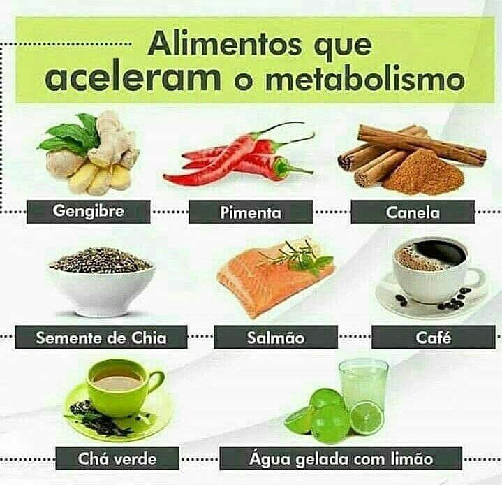 alimentos q ajudam acelerar o metabolismo
