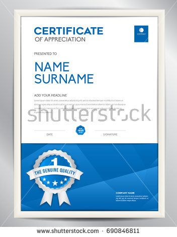 52 best Certificate Template design images on Pinterest - corporate certificate template