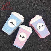 Divertido moda personalidade xícara de café bonito letra projeto cor hit xadrez mini saco cadeia ombro bolsa das senhoras saco do mensageiro da bolsa alishoppbrasil