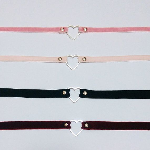 Heart Velvet chokers