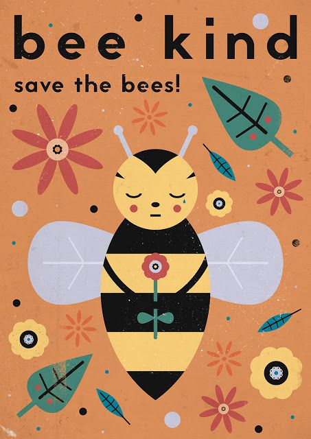 Just The Bee S Knees Boys Bathroom Inspiration And A Mood: Carly Watts Art & Illustration: Save The Bees!