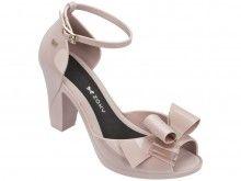 Zaxy pudrové boty na podpatku Diva Bow Sandal Fem Nude - 1799 Kč