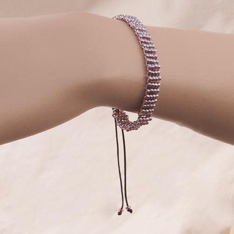 Handmade Lavender Gray Beaded Bracelet  At Anthoshop.com