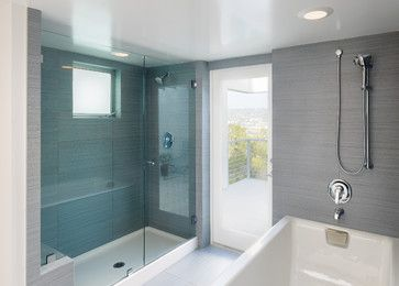 No tile on shower floor. Hum...Pans screwed into wall studs. Shower pans can also squeak when they're screwed into wall studs. I see this happen all too frequently, and rarely is this procedure recommended by shower pan manufacturers. Instead of screwing through the shower pan's side, suggest that your installer use no-drill clip attachments.