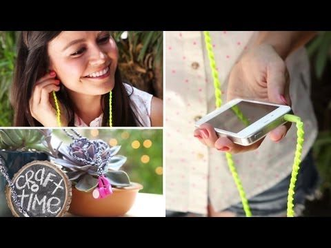 EMBROIDERED EARBUDS DIY - CRAFT-TEEN WITH ASHLEY ADAMS