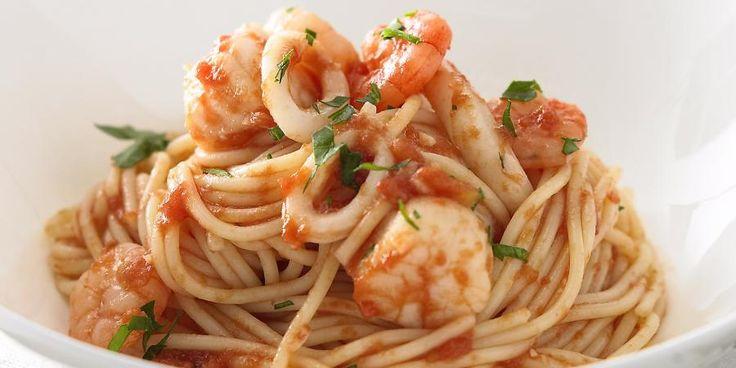 Recipe for Spaghetti Seafood Marinara