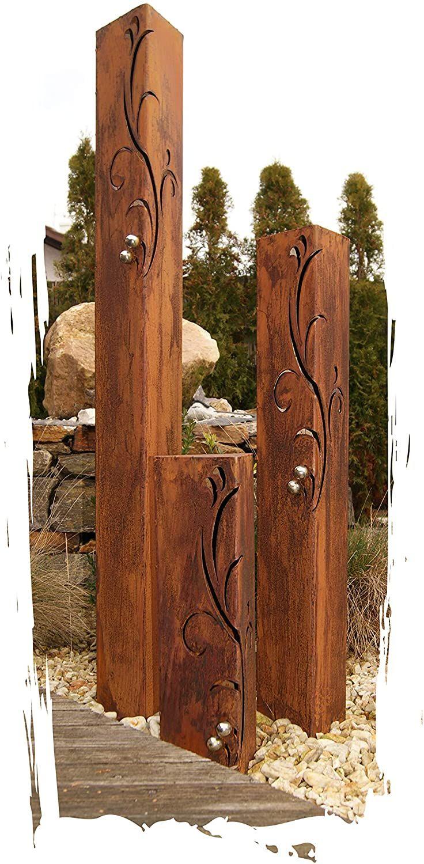 Metallsaulen Gartendeko Diy Gartendekoration Garten Deko Edelrost