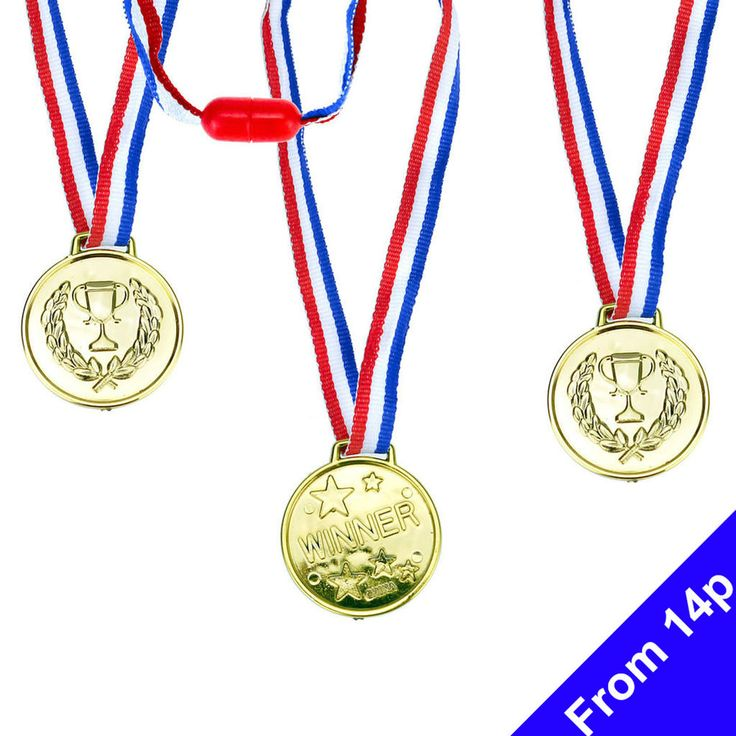 Winners Gold Medals Sports Day Party Prizes Children    eBay