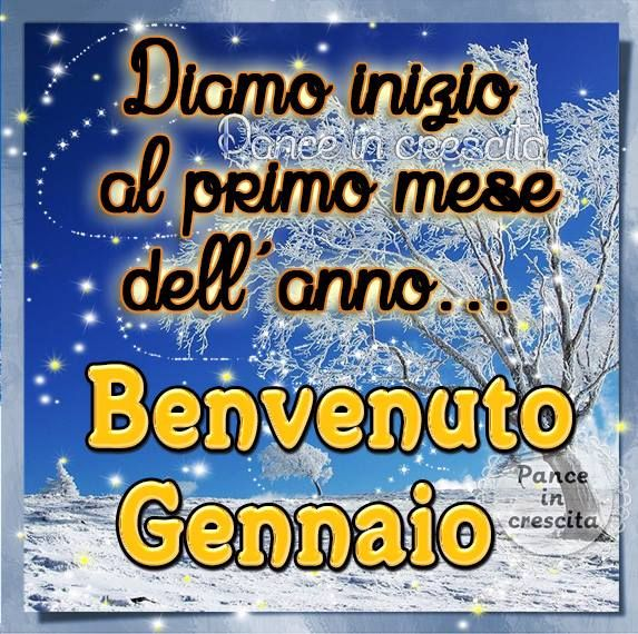 Diamo inizio al primo mese dell'anno... Benvenuto Gennaio #gennaio