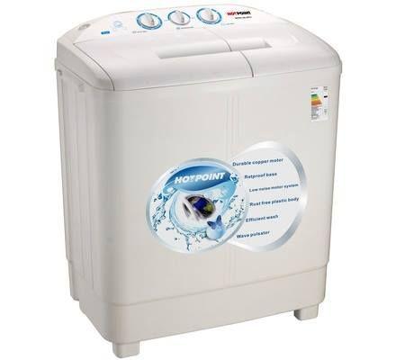 Von Hotpoint HPTT7 Twin Tub Washing Machine - White - 7 Kg kshs 18000/ #clknetwork #homeappliance24 #kitchenappliances #cleaningappliances