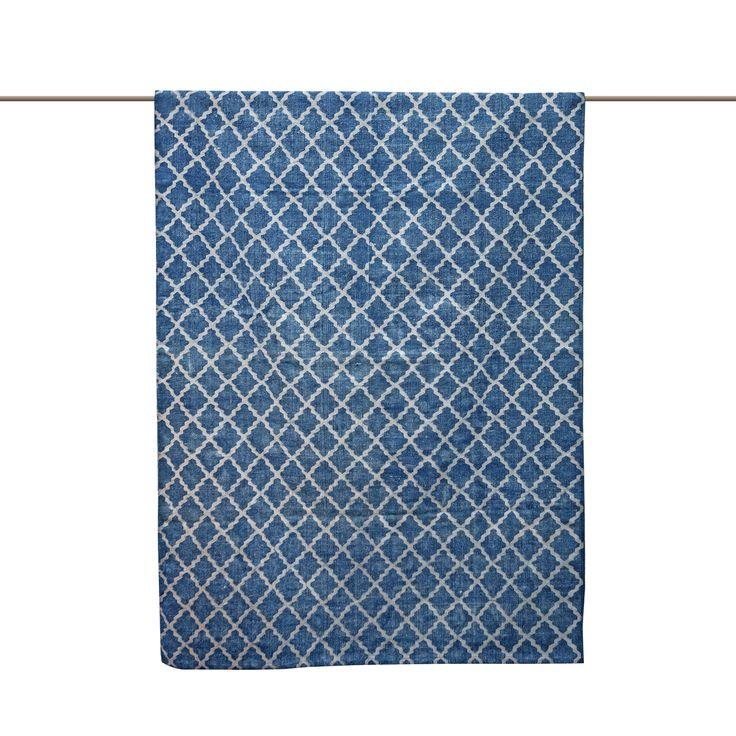 Stonewashed matta, blå i gruppen Rum / Vardagsrum / Vardagsrumsmattor hos RUM21.se (129620r)