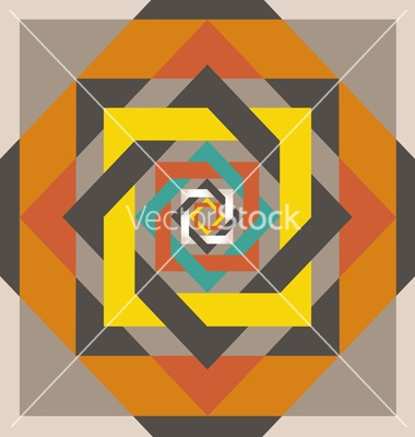 Geometrical design a square in a square vector on VectorStock®