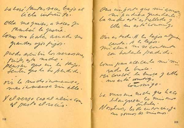 """""""Puedo escribir los versos más tristes esta noche..."""""""